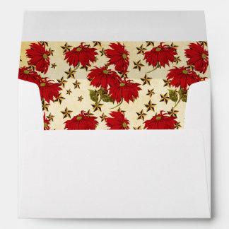 Poinsettia and Stars envelope