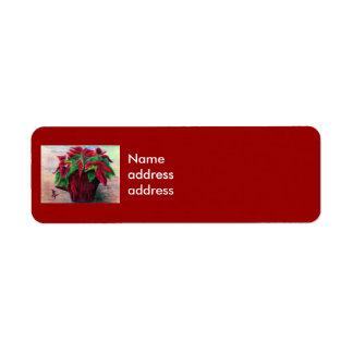 Poinsettia Avery Return Address Labels