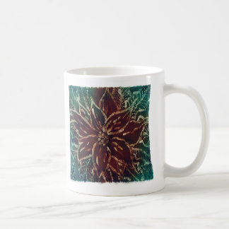 poinsettia batik coffee mug