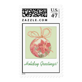 Poinsettia Bauble Postage