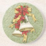 Poinsettia Belces del navidad Posavasos Personalizados