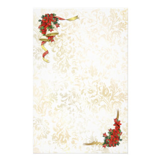 Poinsettia Belces Personalized Stationery