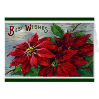 Poinsettia Best Wishes Greeting Card