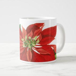 Poinsettia Christmas 20 Oz Large Ceramic Coffee Mug