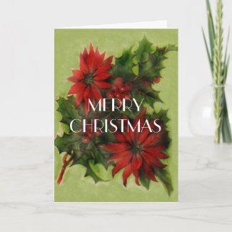 Poinsettia Christmas card card