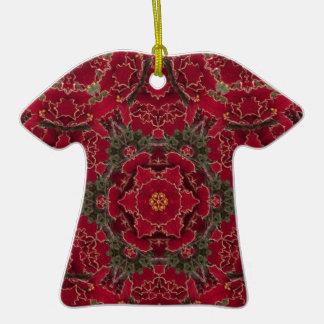 Poinsettia Christmas Dress Ornament