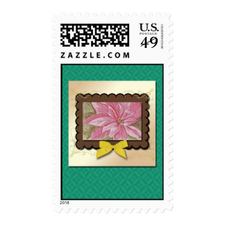 Poinsettia Christmas Flower Stamps