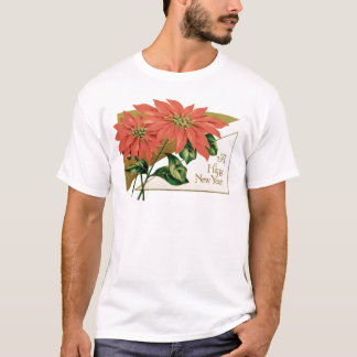 Poinsettia Christmas Flower T-Shirt