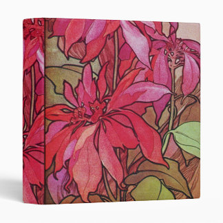 Poinsettia Christmas Holiday 1 One Inch Binder