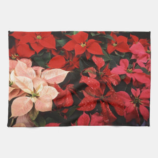 Poinsettia Christmas Holiday Flowers Hand Towel