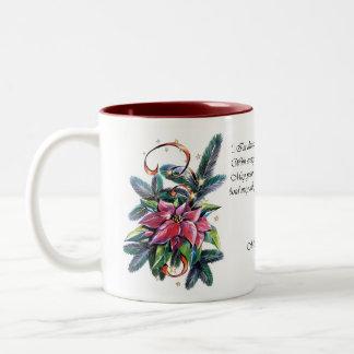 Poinsettia Christmas mug