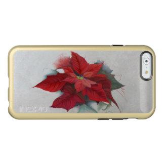 Poinsettia Christmas Oil Painting Incipio Feather® Shine iPhone 6 Case