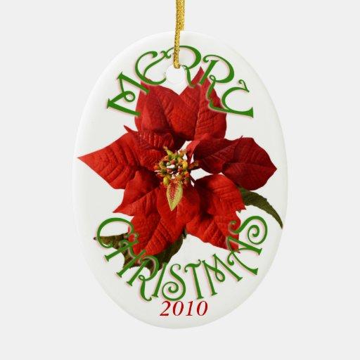 Poinsettia Christmas Ornament