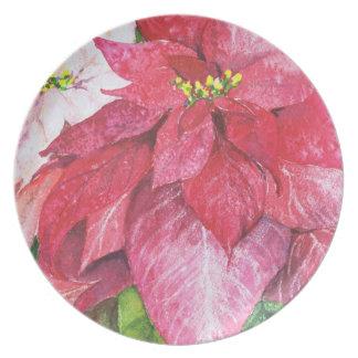 Poinsettia Christmas Plate