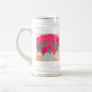 Poinsettia Christmas Stein