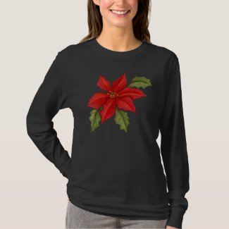 Poinsettia Christmas T-Shirt