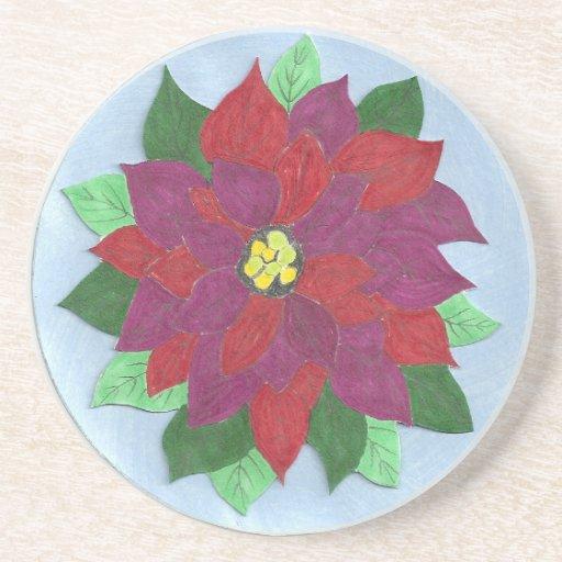 Poinsettia Coaster