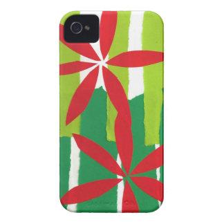 Poinsettia Collage Christmas Blackberry Case