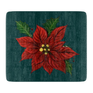 Poinsettia Cutting Board