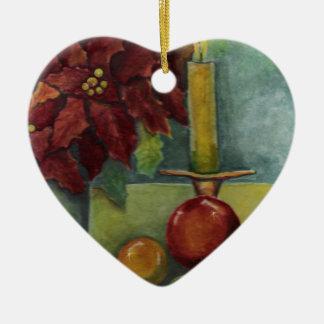 Poinsettia de la pintura de la acuarela del navida ornamente de reyes