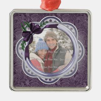 Poinsettia del día de fiesta del ciruelo ornaments para arbol de navidad