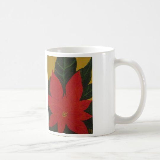 Poinsettia del navidad taza de café