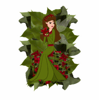 Poinsettia Faery Photo Sculpture