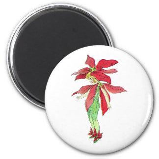 Poinsettia Fairy Magnet