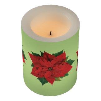 Poinsettia Flameless Candle