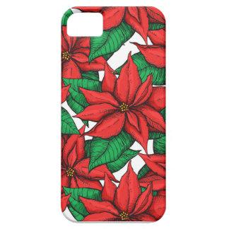 Poinsettia. Flor de la decoración del navidad Funda Para iPhone SE/5/5s