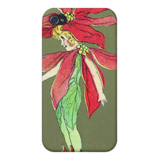 Poinsettia Flower Fairy iPhone 4/4S Covers
