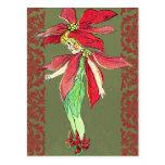 Poinsettia Flower Fairy Post Cards