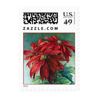 Poinsettia Flowers Postage
