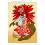 Poinsettia Girl Cards
