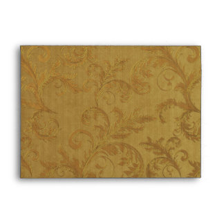 """Poinsettia Gold Christmas -  fits 5""""x7"""" cards Envelopes"""