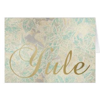 Poinsettia Gold Iridescent  - Card