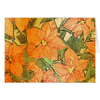 Poinsettia Gold Leafed - Yule Greeting Card