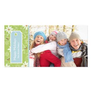 Poinsettia  |  Green  Holiday Photo Cards