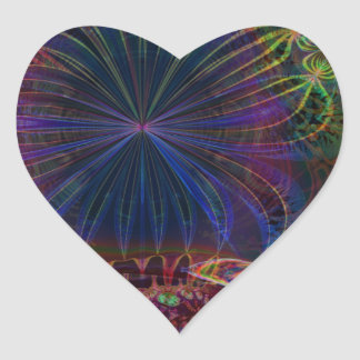 Poinsettia Heart Sticker