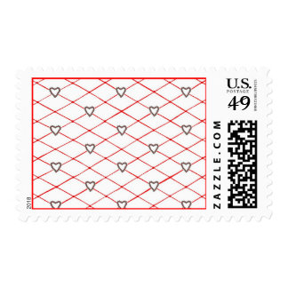 Poinsettia Hearts Criss Cross Quilt Pattern Stamps