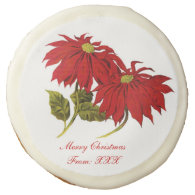 Poinsettia Holiday Cookie Sugar Cookie