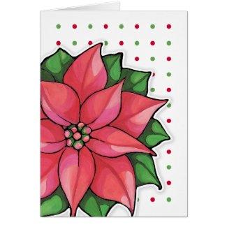 Poinsettia Joy dots border Card