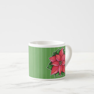Poinsettia Joy green Espresso Mug