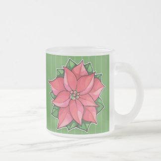 Poinsettia Joy green Frosted Mug