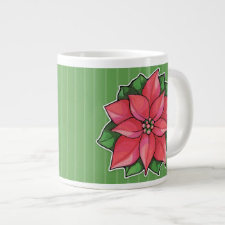 Poinsettia Joy green Jumbo Mug