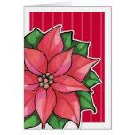 Poinsettia Joy red border Card