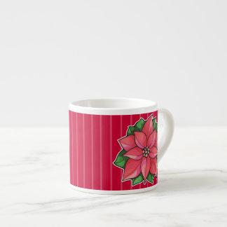 Poinsettia Joy red Espresso Mug