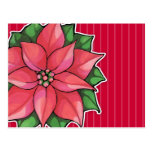 Poinsettia Joy red Postcard