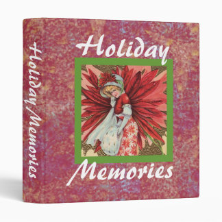 Poinsettia Lady Holiday Memories binder