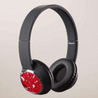Poinsettia Leaf Texture Headphones